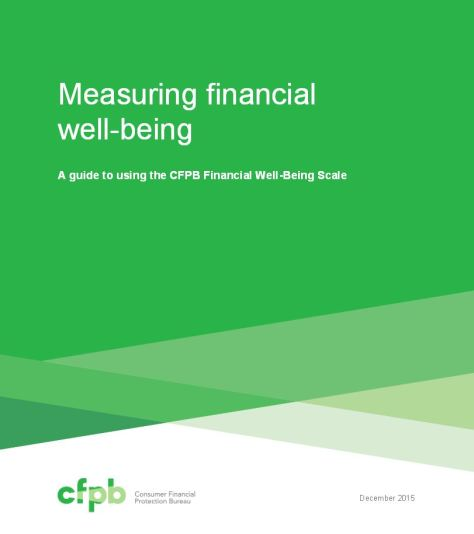 CFPB financial well being scale